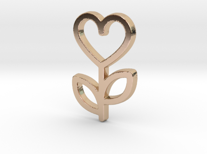 Love Rose Pendant - Amour Collection 3d printed
