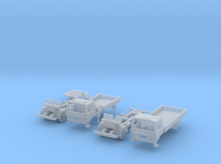 SET 2x Vierer-Club-LKW (N 1:160) 3d printed