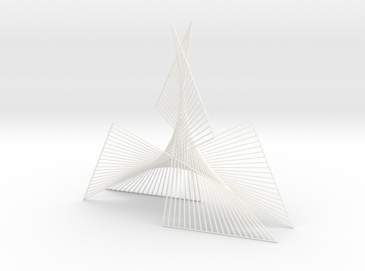 Shape Wired Parabolic Curve stitching Art V1 3d printed