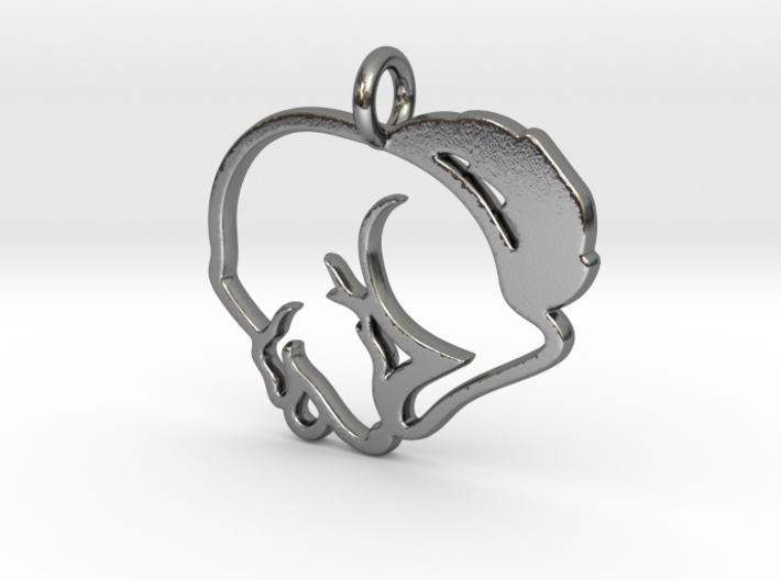 Puppy Love Pendant 3d printed