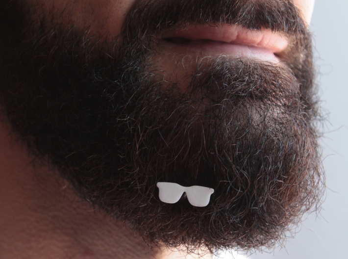 Sunglasses for beard - front wearing 3d printed