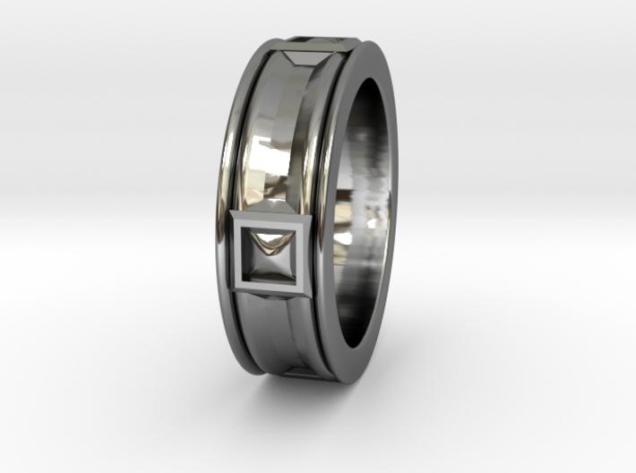 Pompeiian Trim Ring - Size 12 3d printed