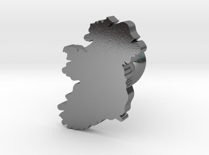 Ireland cufflink 3d printed