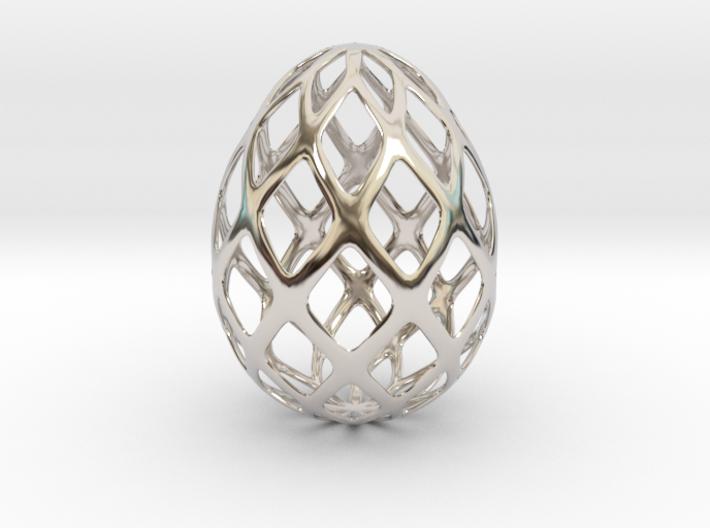 Trellis - Decorative Egg - 2.3 inches 3d printed 3d mesh egg