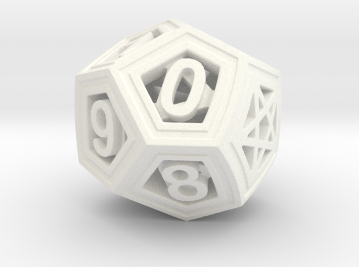 10 Sided Roll Down Counter 3d printed