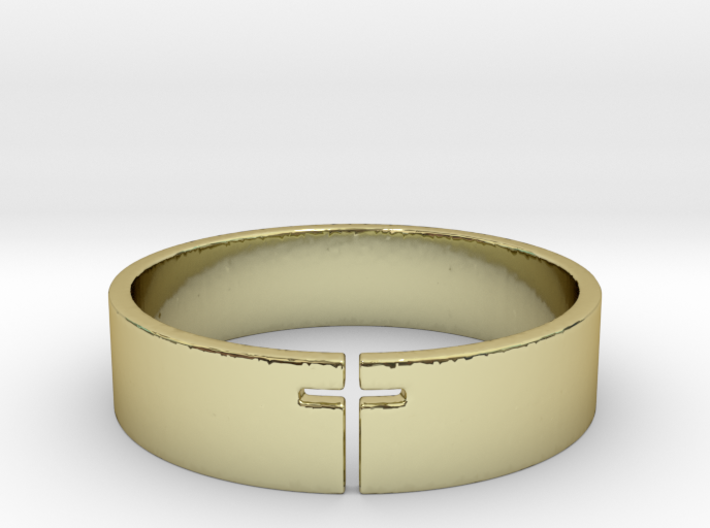 Cross Ring Size 10 3d printed