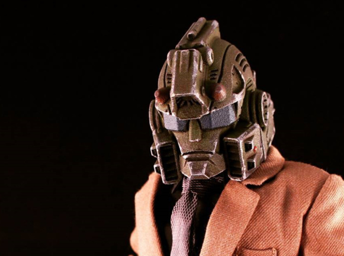 """""""Springer"""" custom 1:6th scale head 3d printed Painted sample, with my mid-length neck - accessories not included"""