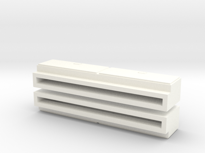 "1/64 Side Tool Box - 1.35"" long 3d printed"