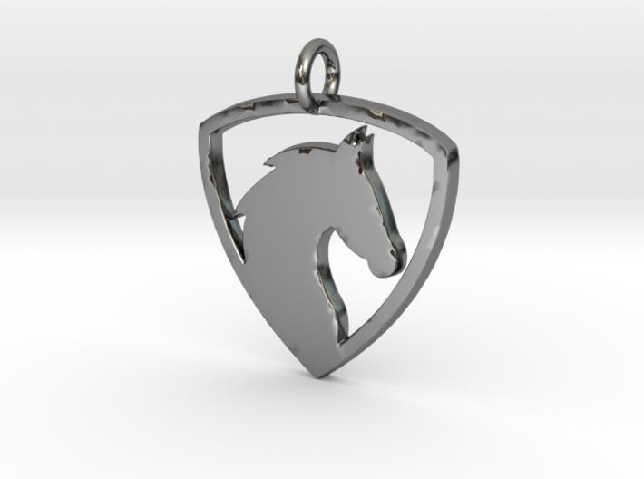 Horse Head V1 Pendant 3d printed