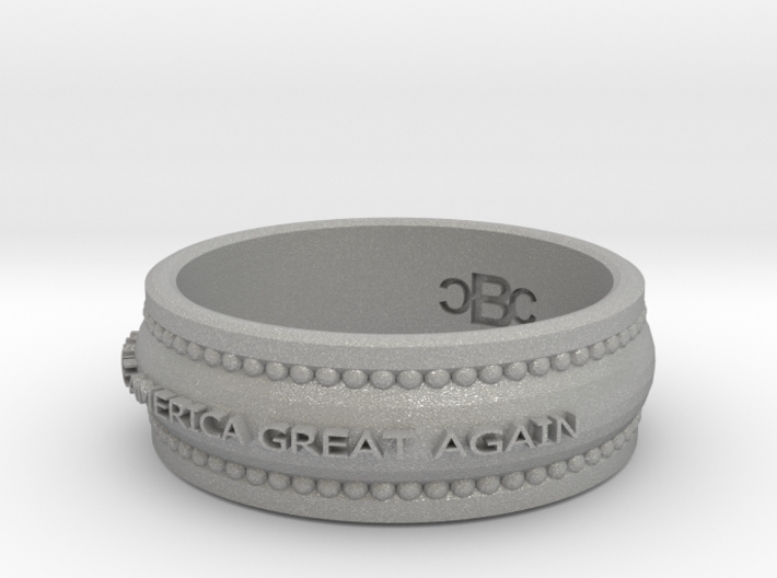 size 7 1/2 Make America Great Again Ring 3d printed