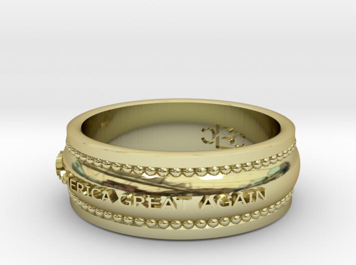 Size 7 Make America Great Again Ring 3d printed