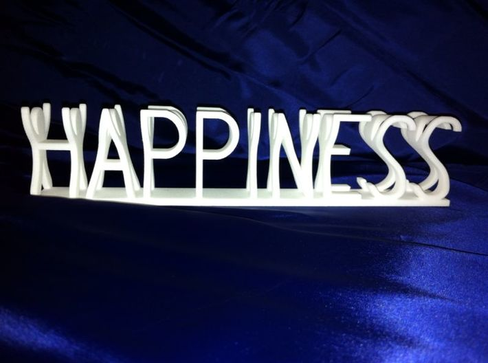 Happiness small 3d printed