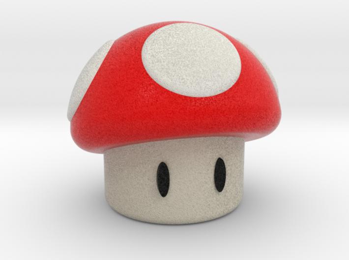 Red Shroom 3d printed