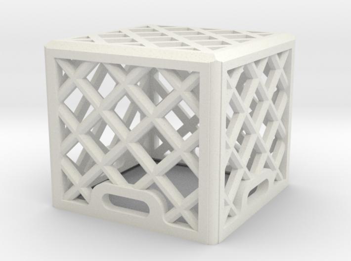 1:25 Scale Milk Crate (single) 3d printed