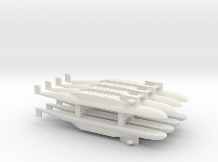 PLA[N] 094 SSBN x 8, 1/2400 3d printed