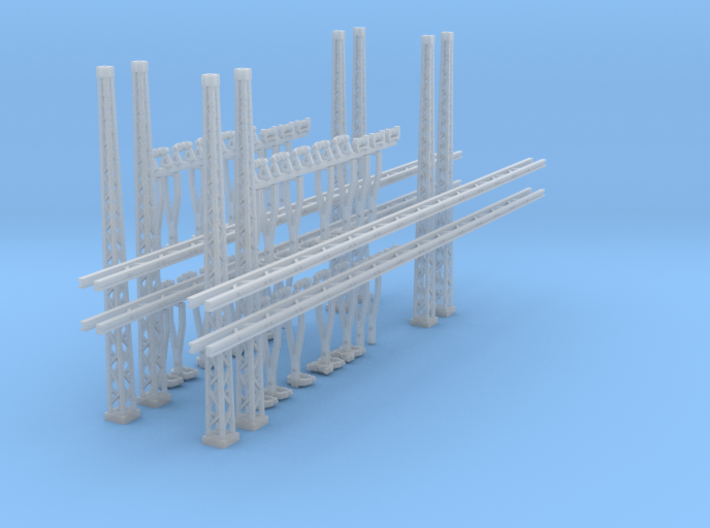 4x Portalmast 4-spurig (N 1:160) 3d printed