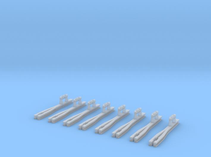 8x kurze Ausleger für Flachmast (N 1:160) 3d printed