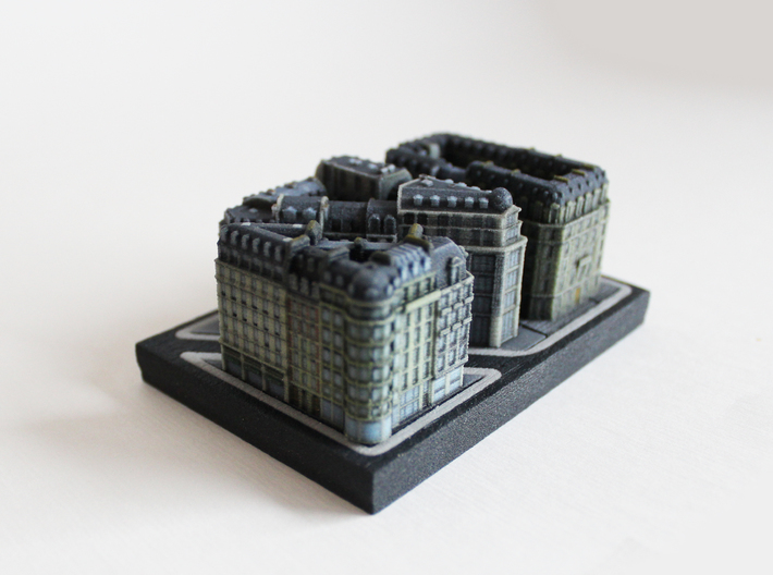 Paris Shopping Block B (5x4) 3d printed