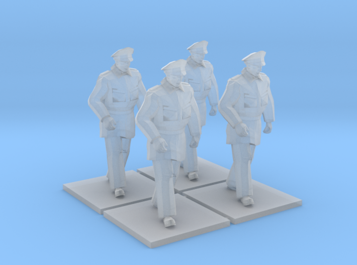 Police Walking x4 HiRez (Winter in Gotham), 1/64 3d printed Shown with similarly scaled accessories for illustrative purposes. Additional items not included.