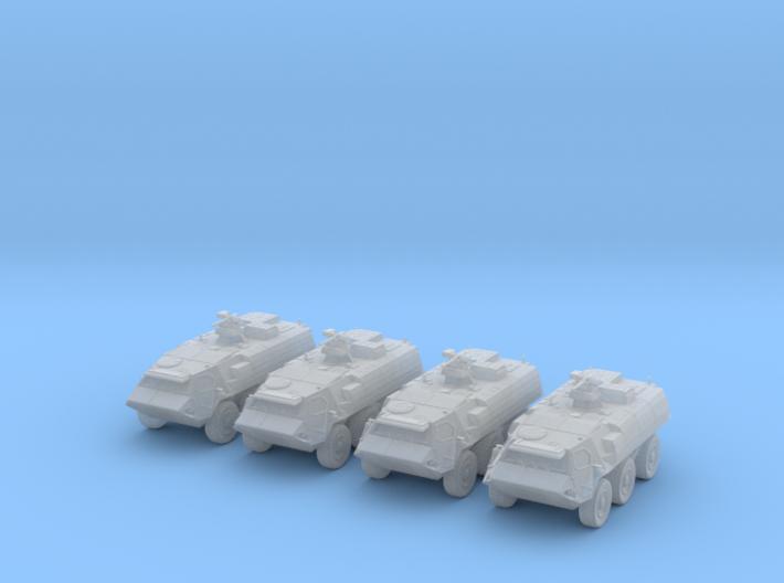 1:285 German TPz Fuchs 1A8 Platoon of Four 3d printed