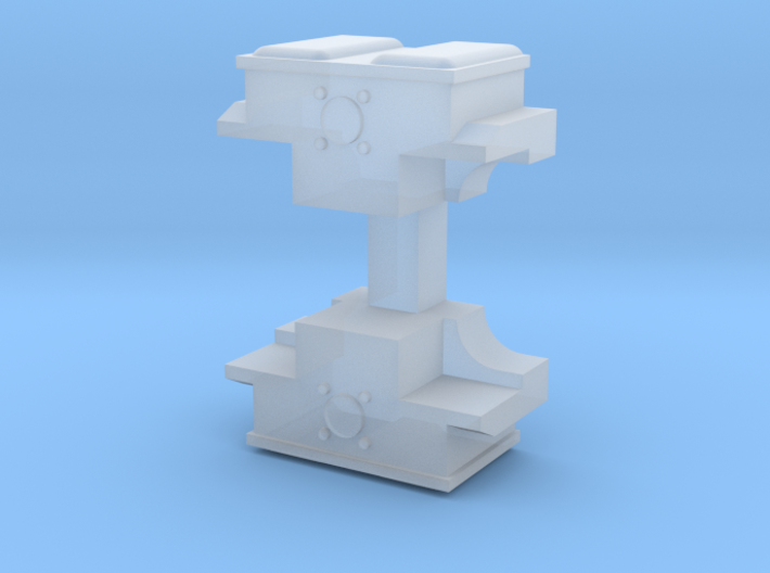 Pair of Caprotti Camboxes for 1/76 scale 3d printed Render of parts in frosted ultra detail