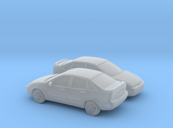 1/160 2X  2000-04 Ford Focus Sedan 3d printed