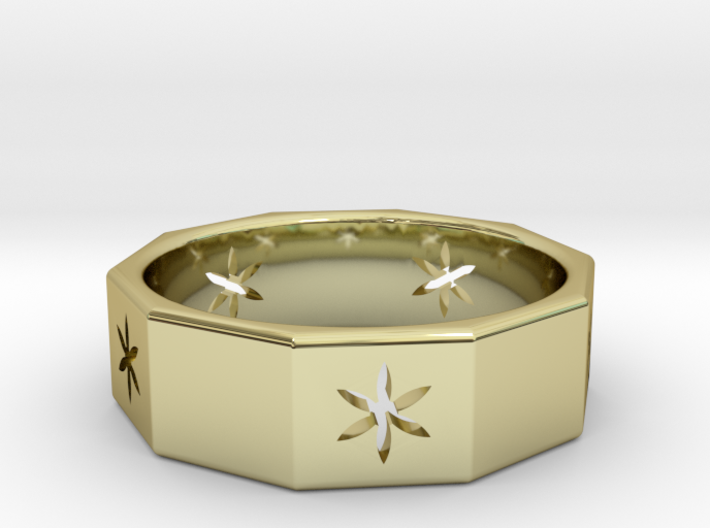 Decagon of Life Ring  3d printed