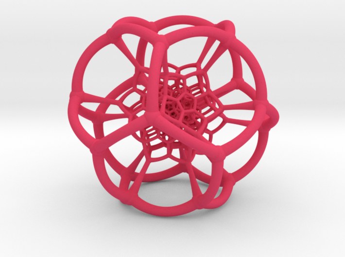 0501 Stereographic Polychora - 120 cell (11cm) 3d printed