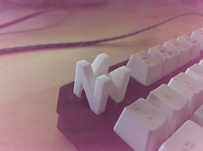 Cherry MX - Keycap - N64 Logo 3d printed i swear its the camera i didnt use some instagram filter :(