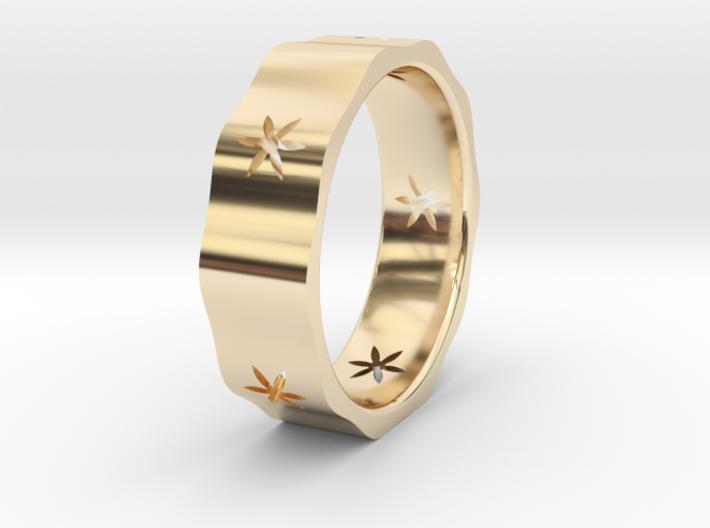 Natural Decagon Ring 3d printed