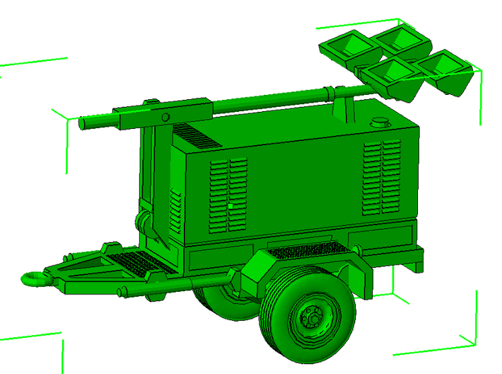 1/64th Construction Generator light tower trailer 3d printed