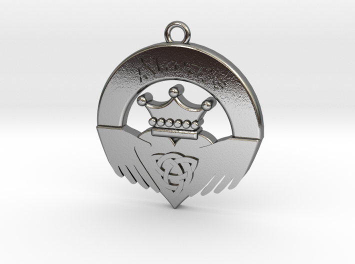 Claddagh Pendant 3d printed