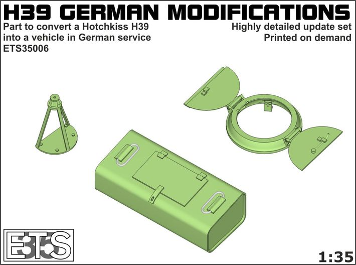 ETS35006 Hotchkiss H39 German modifications 3d printed