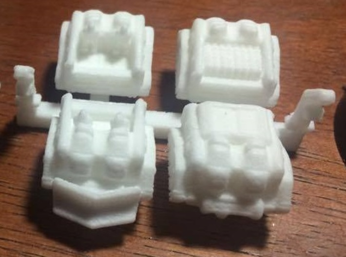 'Mule' Ammunition Tractor Set 3d printed