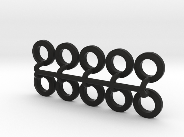 10 Tires for the Befort Double Header trailer 3d printed