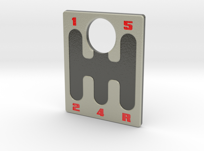 Pinball Plunger Plate - 5 Speed Gear Shift - Red 3d printed