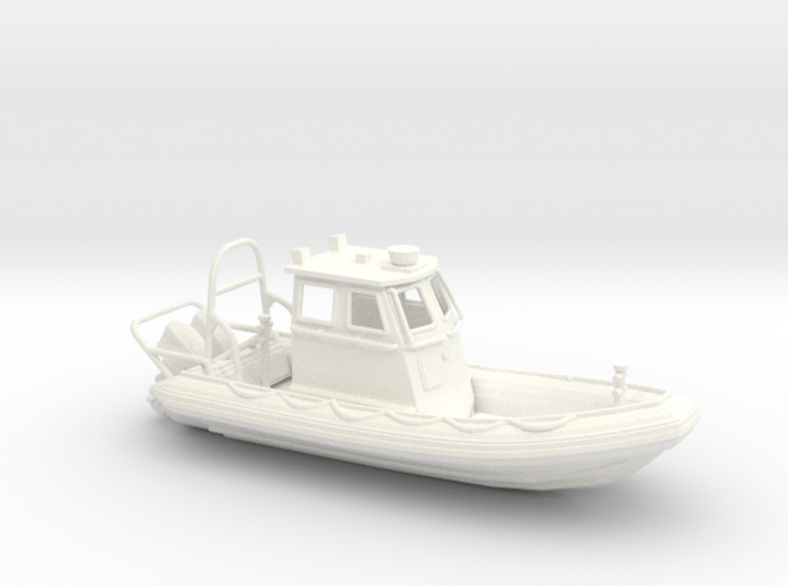 RIB Zodiac hurricane. HO Scale (1:87) 3d printed RIB Zodiac hurricane boat in HO scale (1:87)