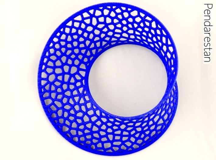 Mobius strip Voronoi (5½ in) 3d printed Voronoi Mobius strip minimal surface sculpture