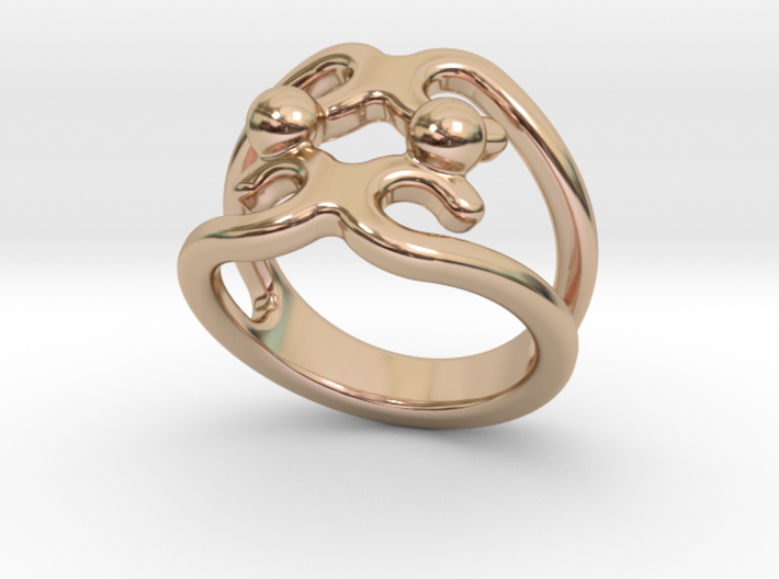 Two Bubbles Ring 26 - Italian Size 26 3d printed