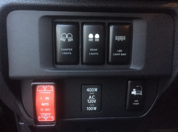 Narrow 3 Switch Plate Compatible for Toyota Tacoma 3d printed