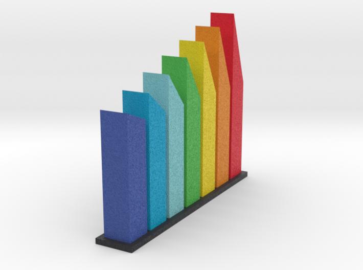 Rainbow Towers 3d printed