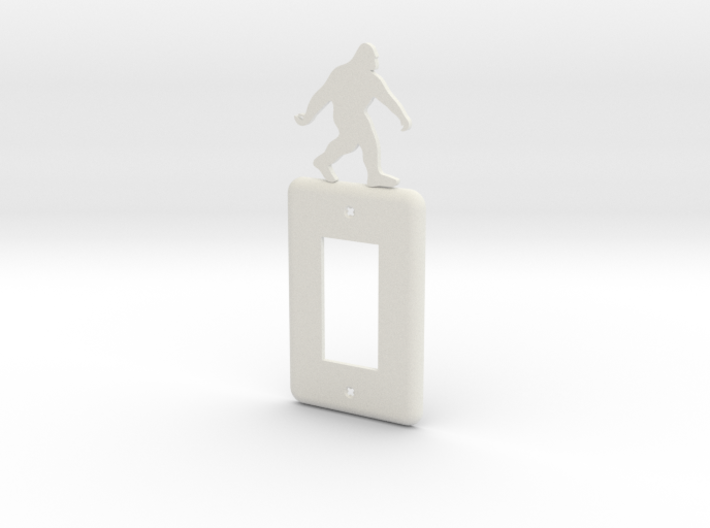 Sasquatch Light switch Cover 3d printed