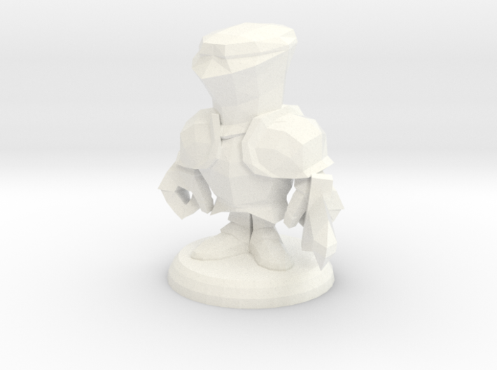 POCKET KNIGHT POSE WITH SWORD BASE 3d printed