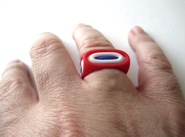 Nested Rings: Inner Ring (Size 10) 3d printed Within the set of 3 nested rings