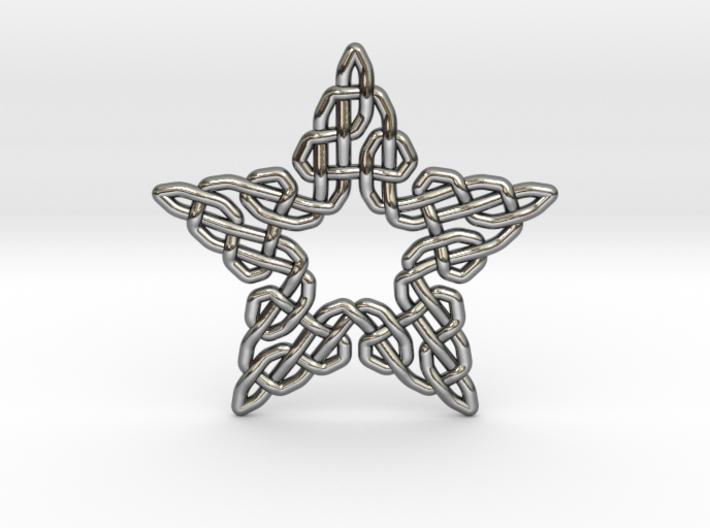 0511 Celtic Knotting - Star Grid [5] 3d printed