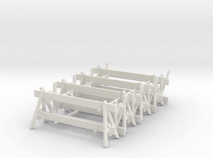 8 Traffic Barricades, Standard 3d printed