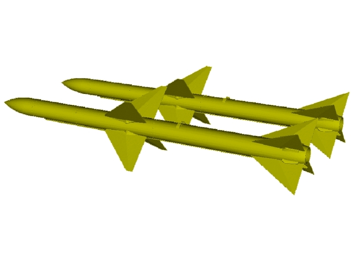 1/18 scale Raytheon AIM-7E Sparrow missiles x 2 3d printed