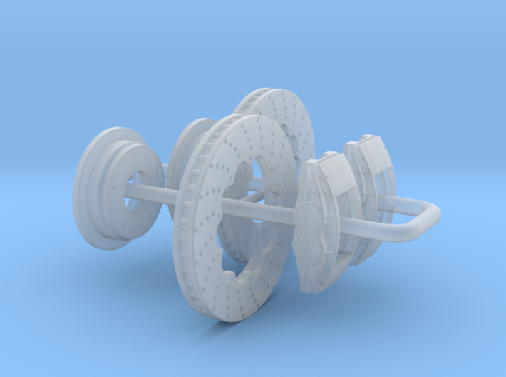 1/25 Modern 11p6 Inch Diam 4 Piston Disk Brake Set 3d printed