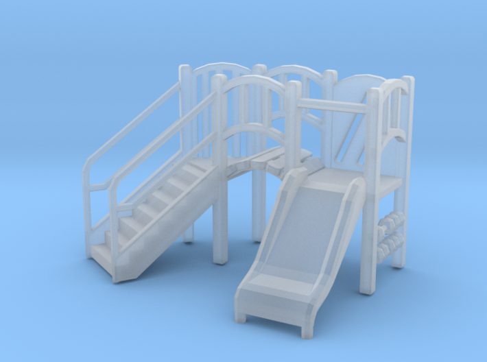Playground Equipment 01. HO Scale (1:87) 3d printed
