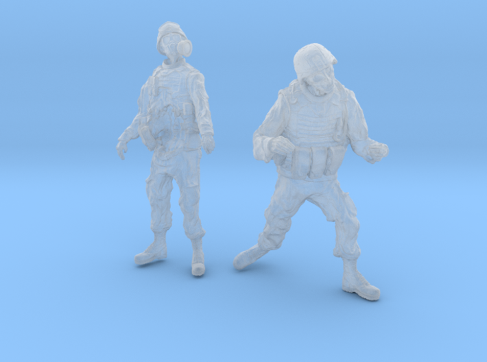 1-32 Military Zombie Set 4 3d printed